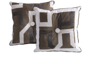 Designer cushion Ondina Jimi Wengè | BROCHIER e-shop