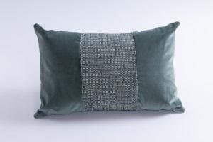 Designer cushion Leonida Liz Petrol | BROCHIER e-shop